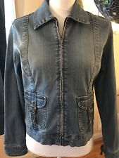 FADED GLORY Womens Blue Jean Jacket Blue Denim Size Small Premium Vtg Collection