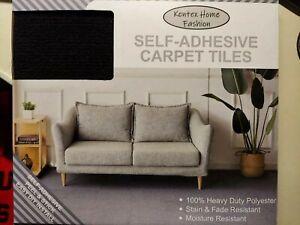 Kentex Self Adhesive 12x12 Carpet Tiles Black