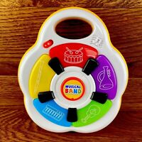 Giggle & Grown Music Maker Band Toy Drums Horns Piano Guitar Lights Sounds VGC