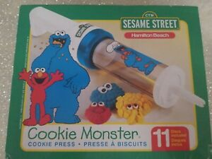 Hamilton Beach Sesame Street Cookie Monster Cookie Press Rare Open box New