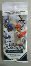 Packs of 2019 Bowman Platinum Baseball 12 Trading Cards per Pack
