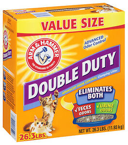 02297 Cat Litter, Double-Duty, Clumping, 26.3 Lbs. - Quantity 1