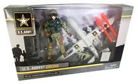 US Army Drone Action Figure Play Set Officially Licensed US Army - BRAND NEW!!!