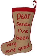 Dear Santa Christmas Stocking