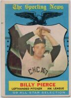 1959 Topps #572 Billy Pierce VG-VGEX+ Wrinkle Chicago White Sox FREE SHIPPING