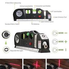 Useful Laser Level Aligner Horizon Vertical Cross Line Measure Tape Ruler *1set