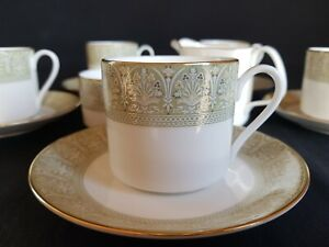 ROYAL DOULTON 'SONNET' H5012 12 PIECE COFFEE SET CUPS SAUCERS MILK & SUGAR