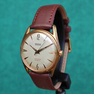 MIRAMAR Automatic Gold Plated Vintage Watch Felsa 4000 Reloj Montre Uhr Swiss