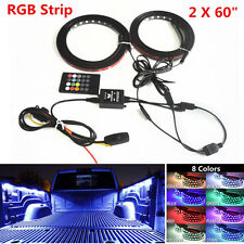 2pc RGB LED Car Truck Pickup Bed Light Strip Waterproof Neon Glow Lamp w/ Remote