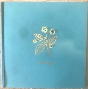 Papyrus Thank You Card  - Gold Embossed Flower w/ Tiny Gems - You're Wonderful