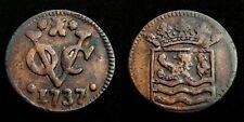 Netherlands Indies / Zeeland - VOC duit 1737 ~ Scho. 166. S