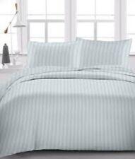 Queen Size - 4 PCs Sheet Set Egyptian Cotton 1000 Thread Count Light Grey Stripe