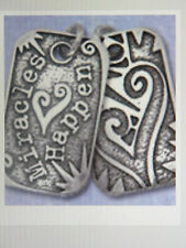 SOBRIETY JEWELRY - STERLING SILVER DOG TAG -MIRACLES HAPPEN - RECOVERY