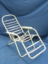 Vint. Mid-Century Barcalo Folding Steel/Metal Outdoor Lawn or Patio Lounge Chair