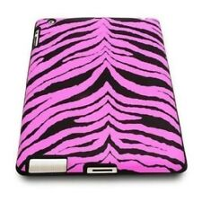 Apple iPad 2/3/4 Cover Case Skin Protective Soft Silicone Gel zebra pattern Pink