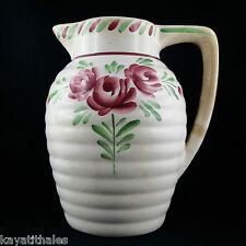 Pichet/Broc Ancien FAÏENCE par ONNAING Décor Floral jug/islettes/nord/Signé 1930