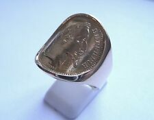 Seal ring waisted gold piece 20 Francs Napoleon laure socket inner