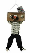Halloween 80cm Hanging Animated Kicking Legs Skeleton Prisoner Decoration Prop