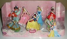 Disney Princesses 7Pc. Ornament Set Ariel Snow White Tiana Merida Jasmine PVC