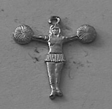 Wholesale Lot # 282 Cheerleader Pewter Charm use as Pendant Earring on Key Chain