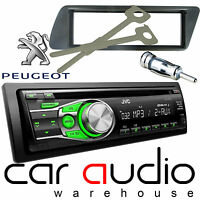 Peugeot 306 JVC CD MP3 AUX GREEN Display Car Stereo Radio Player & Fitting Kit