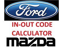 FORD MAZDA Incode - Outcode Calculator No Token Limitation and HDS CALCULATOR