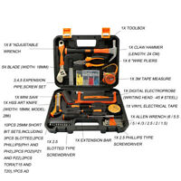 Household Repair Tool Kit Set Screwdriver Wrench Remover Toolbox For Live