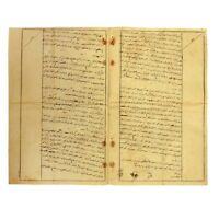 Antique Ottoman Empire's Handwritten Manuscript Document in Ottoman Language