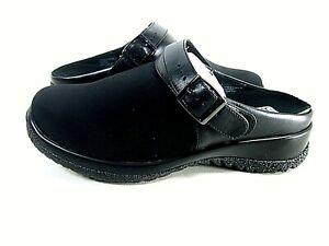 Drew Women's Shoes Savannah 17100 Casual Clog Canvas Buckle Black US Size 6.5 WW