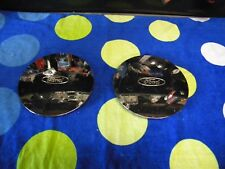 1995 - 2000 Ford Taurus Wheel Center Caps -- 1 pair -- Chrome