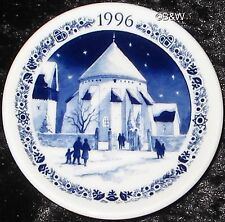 1996 ROYAL COPENHAGEN FAYENCE MINI WEIHNACHTSTELLER / CHRISTMAS PLAQUETTE