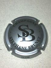 Capsule de champagne BRUNET Stéphane initial SB (5b. argent et noir)