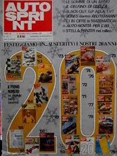 Autosprint 52 1979 Novità per l'80. Stella Panzer nei rallies. Fiat131 ììì SC.53