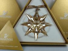 SWAROVSKI SCS GOLD ORNAMENT 2009 MIB #1026761