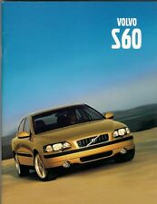 Volvo S60 2000-01 UK Market Sales Brochure  T5 2.4T 2.4 2.0T