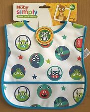 Brand New NUBY CATCH ALL Boy'S BIB-WATERPROOF ( For 6 month plus)