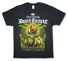 Five Finger Death Punch-War Is The Answer Skull-X-Large Black T-shirt