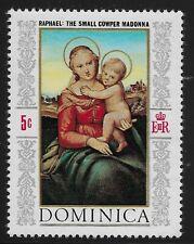 Dominica Scott #241, Single 1968 Complete Set FVF MH