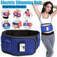 Electric Vibrating Slimming Belt Waist Leg Belly Fat Burning Abdomen Massager UK