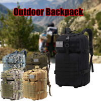 55L Military Tactical Backpack Rucksack Bag Camping Outdoor Sports Hiking Travel