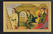 Mint WW2 France Anti Nazi Propaganda Postcard Hitler in Prison