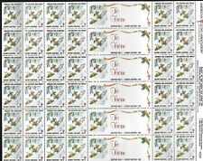 1989 American Lung Assoc Season's Greetings Stamps in Full Sheet as Shown