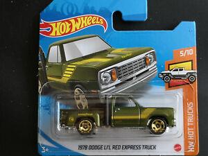 Hot Wheels 1978 Dodge L1'L Red Express Truck, 1:64, OVP