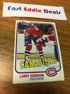 TOPPS NHL HOCKEY 1981-82 LARRY ROBINSON FACTORY PRINT ERROR CARD 31 CANADIENS
