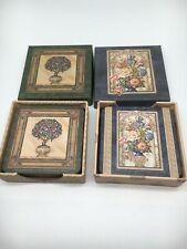 New listing New 2 Box (12) Anne Grenier Style & Paper Inc Made In Canada Flower Coasters