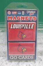 University of Louisville Cardinals 2 Piece Magnet Set - NEW  in Sealed Package