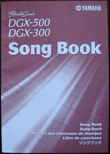 Yamaha Song Book for DGX-500 DGX-300 Keyboards, 97 Songs, 160 Pages, Excellent