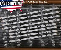 8 PCS/set LED strip Replacement for LG 47LB5800 47LB5900 47LB6100 DRT 3.0 47 A B