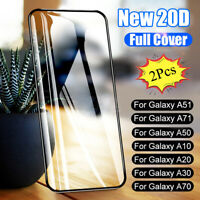 2Pcs For Samsung Galaxy A51 A71 A50 20D Curved Tempered Glass Screen Protector