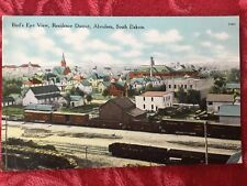1912 Aberdeen, South Dakota Postcard- Bird's Eye View Residence District
